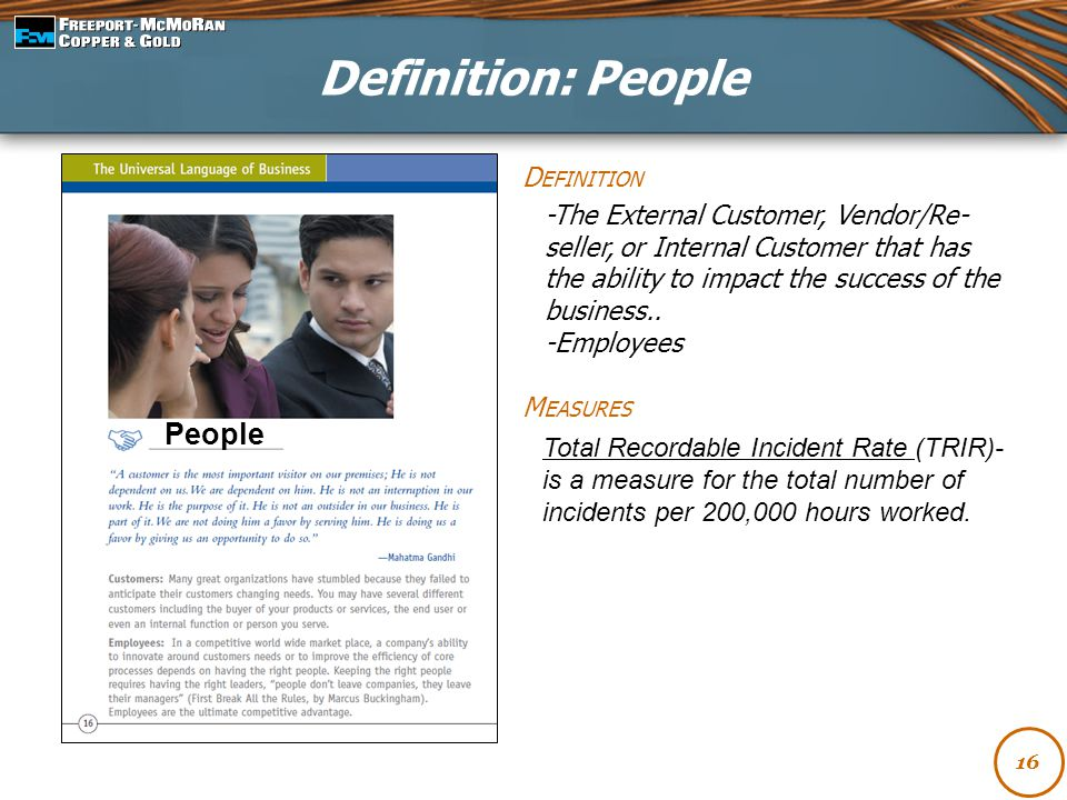 Definition: People People Definition