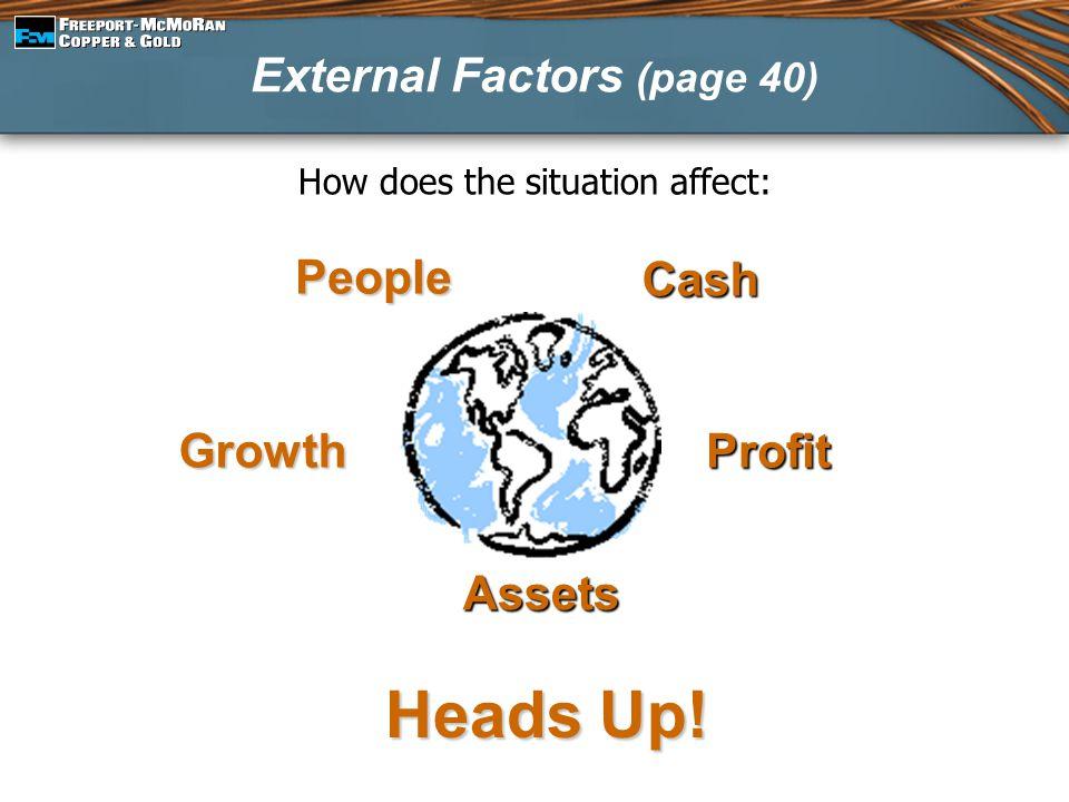 External Factors (page 40)