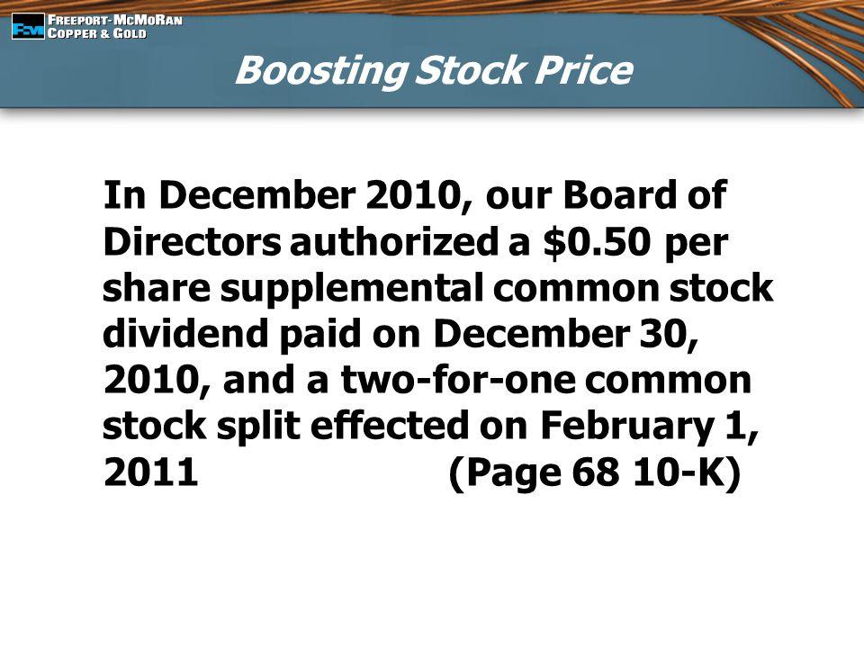 Boosting Stock Price