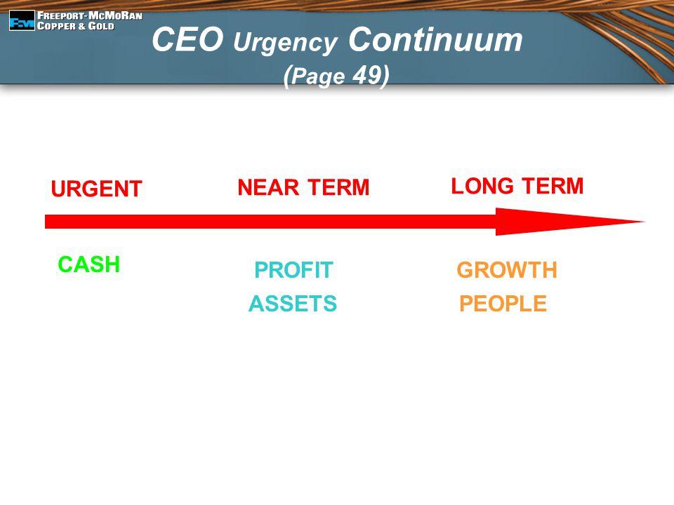 CEO Urgency Continuum (Page 49)