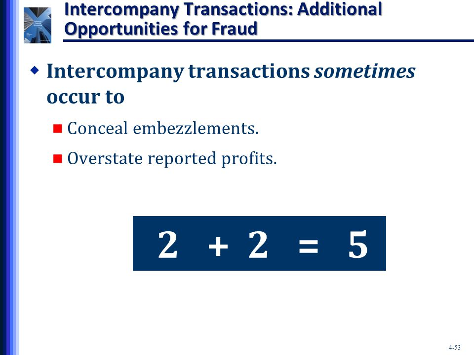 Intercompany Transactions: Additional Opportunities for Fraud