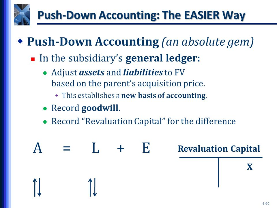 Push-Down Accounting: The EASIER Way
