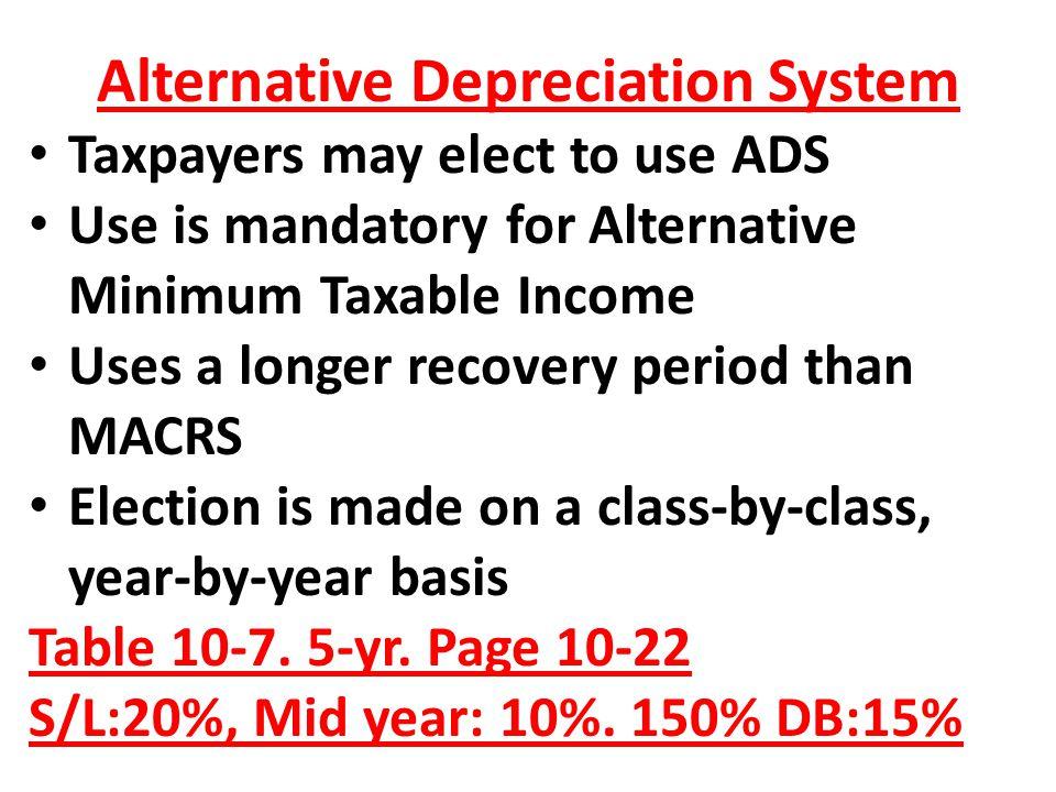 Alternative Depreciation System