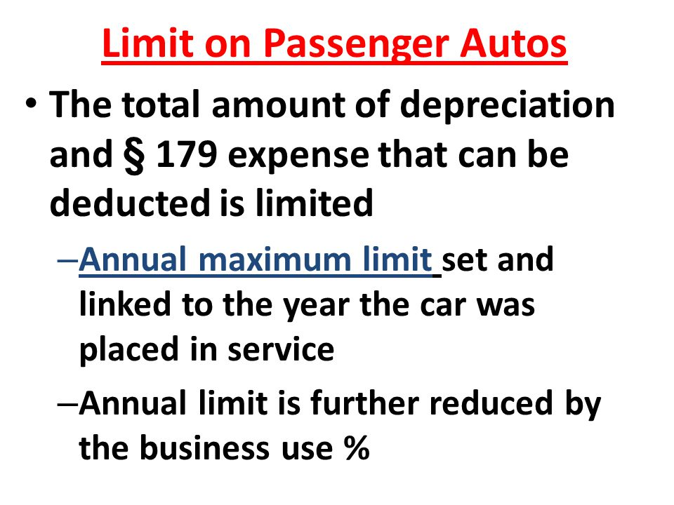 Limit on Passenger Autos