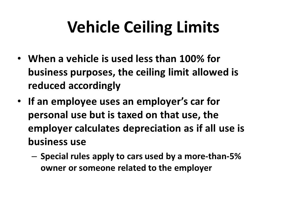 Vehicle Ceiling Limits