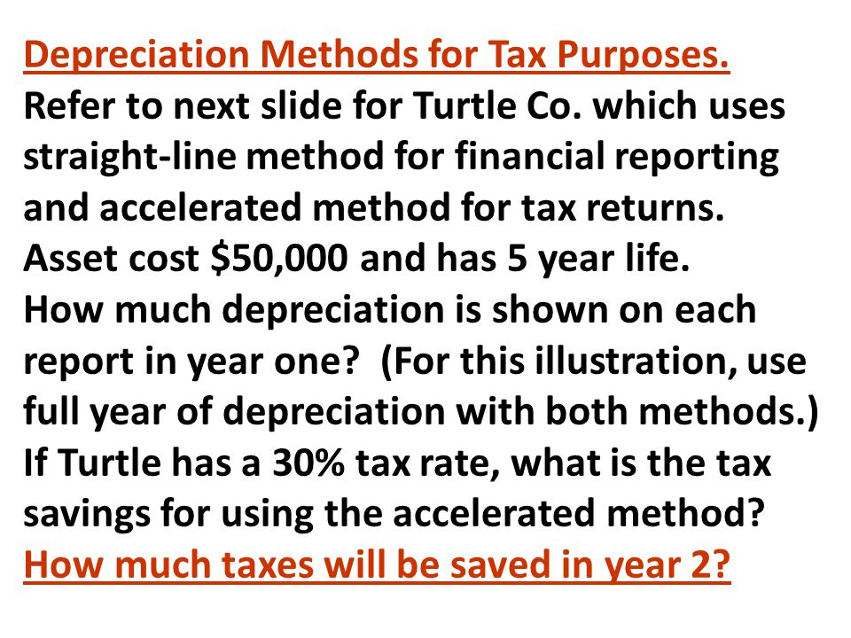 Depreciation Methods for Tax Purposes