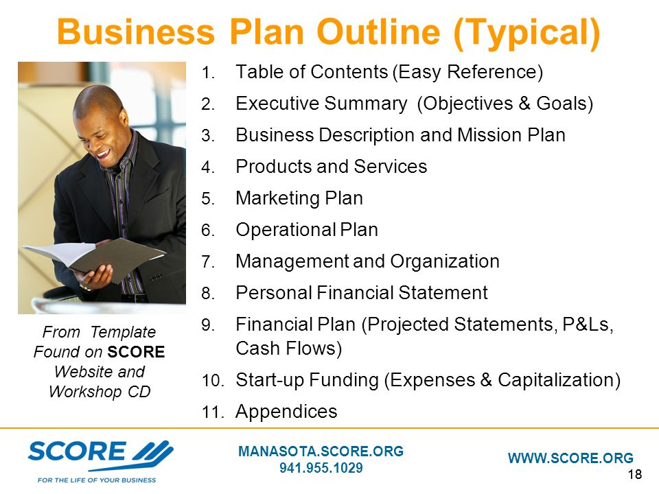 Business Plan Outline (Typical)