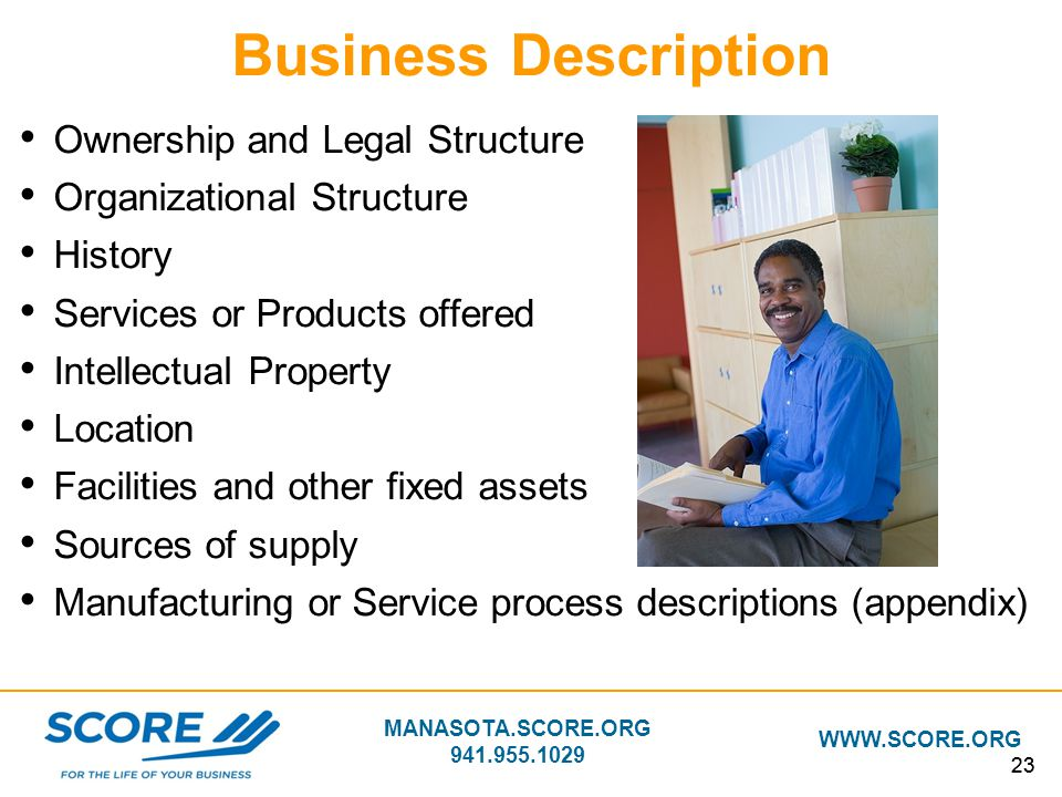Business Description Ownership and Legal Structure