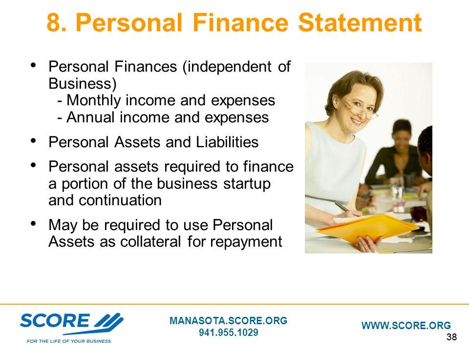 8. Personal Finance Statement