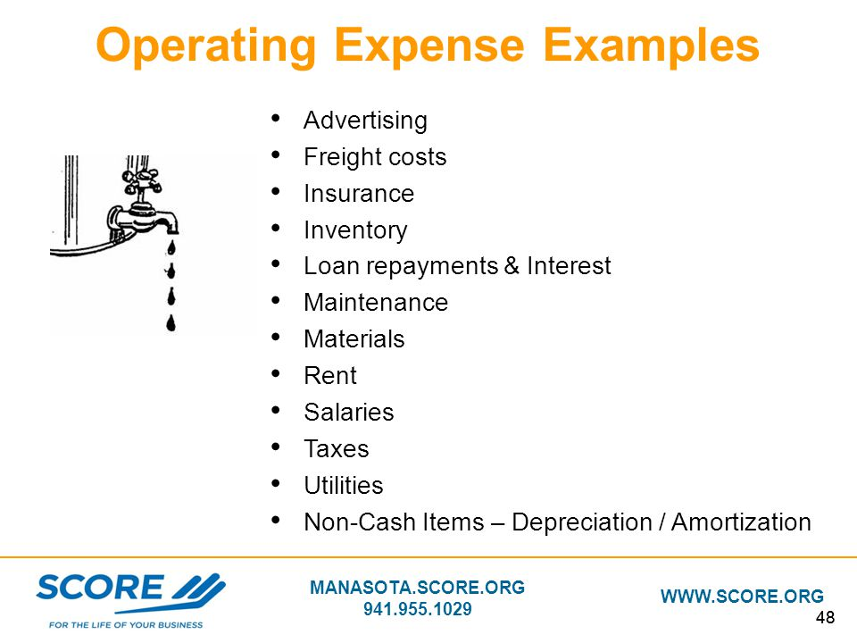 Operating Expense Examples