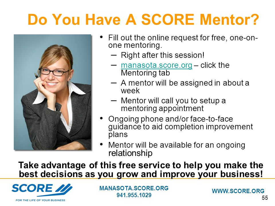 Do You Have A SCORE Mentor
