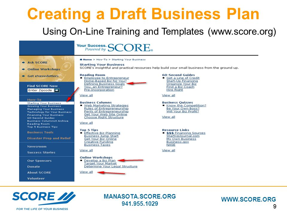 Building your business plan ppt download for Score org business plan template