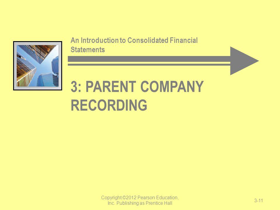 3: Parent Company Recording