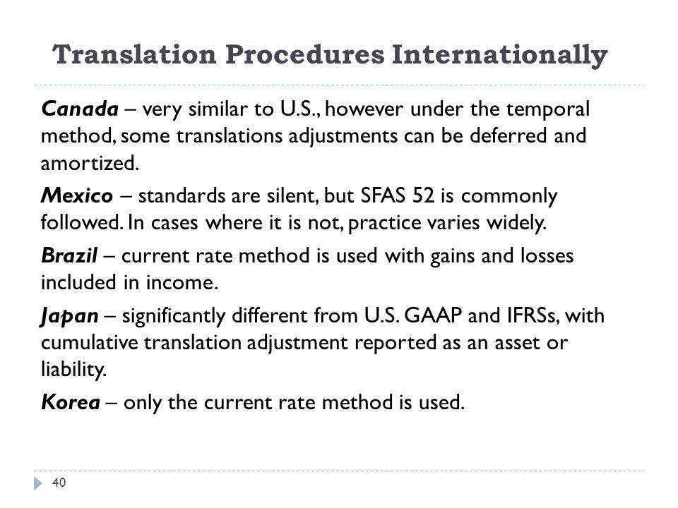 Translation Procedures Internationally