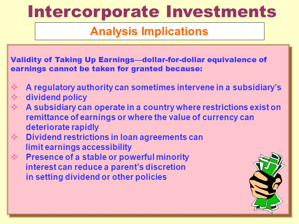 Intercorporate Investments Analysis Implications