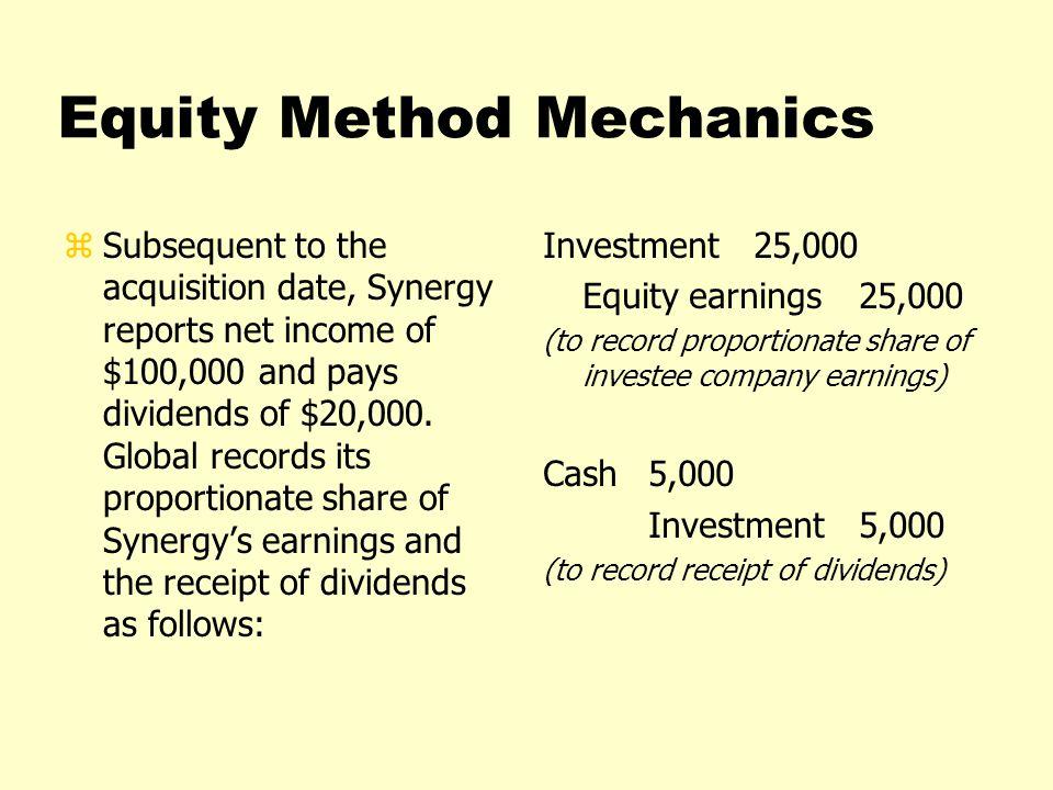 Equity Method Mechanics