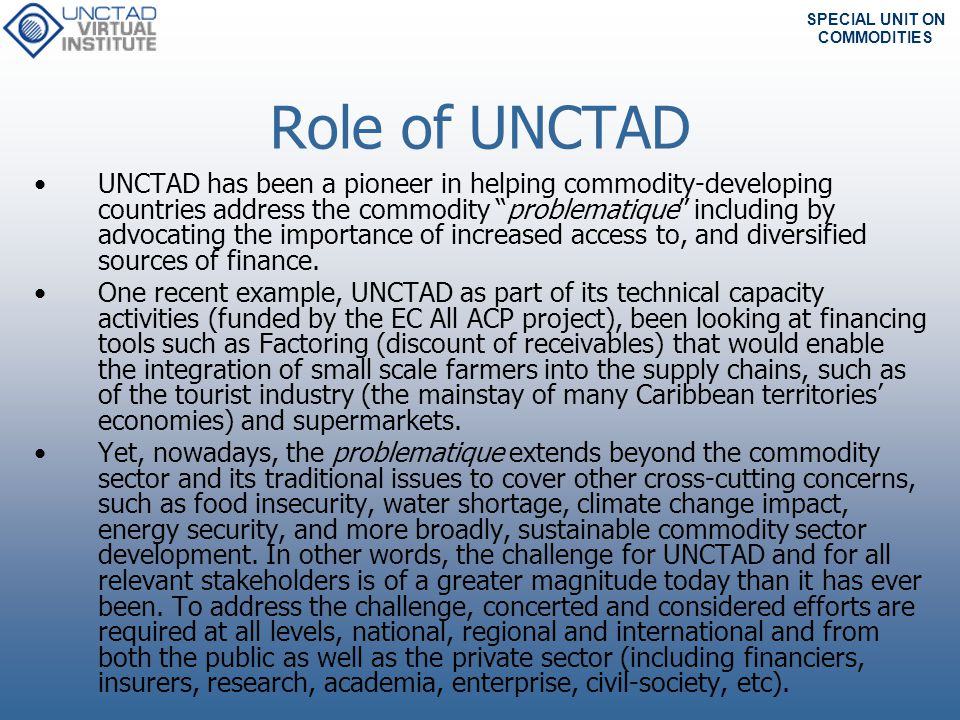 Role of UNCTAD