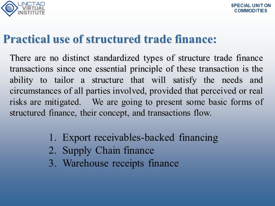 Practical use of structured trade finance: