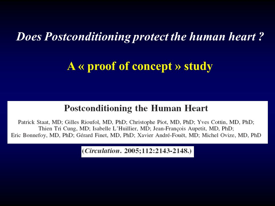 Does Postconditioning protect the human heart