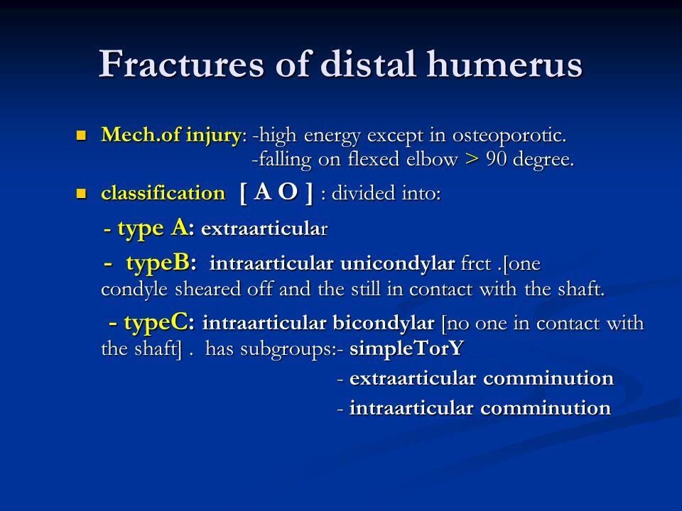 Fractures of distal humerus