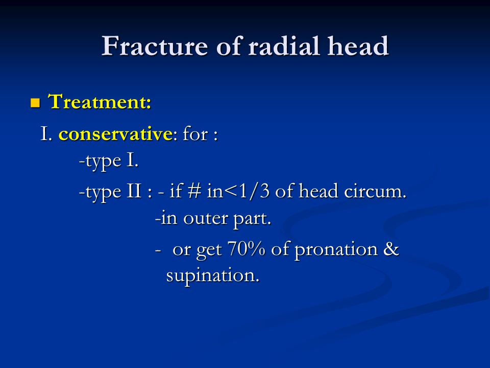 Fracture of radial head