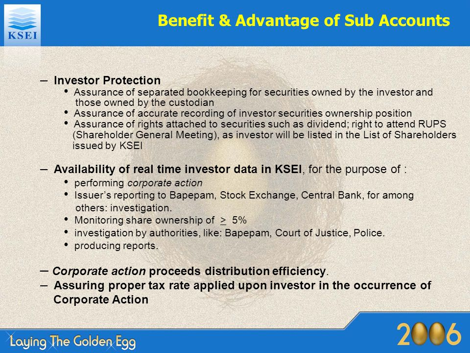 Benefit & Advantage of Sub Accounts