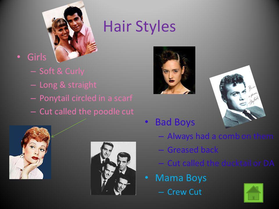 Hair Styles Girls Bad Boys Mama Boys Soft & Curly Long & straight