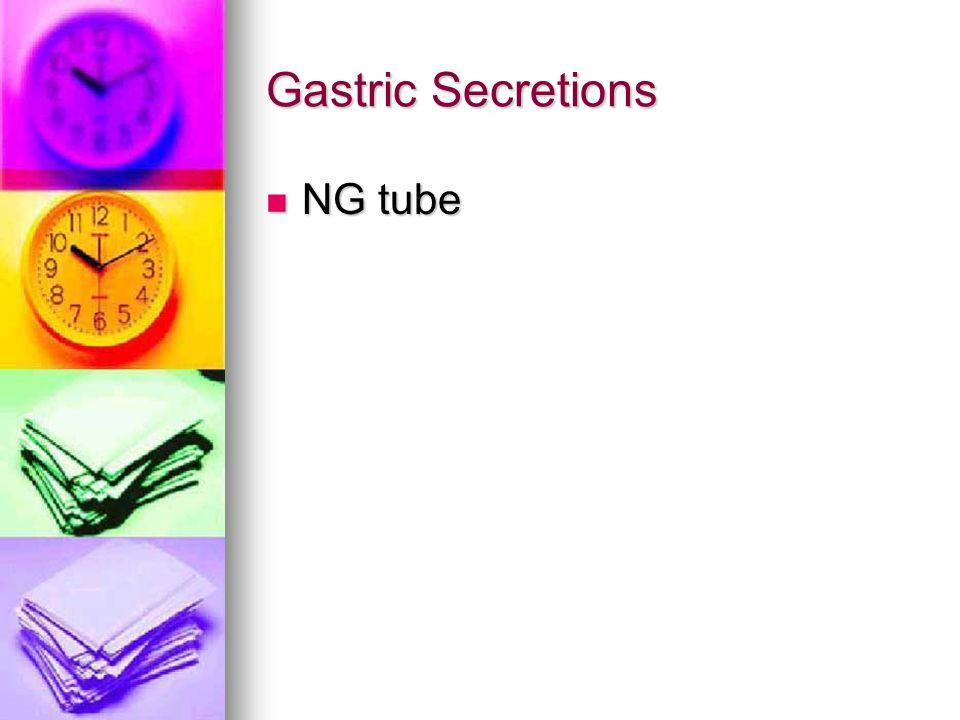 Gastric Secretions NG tube