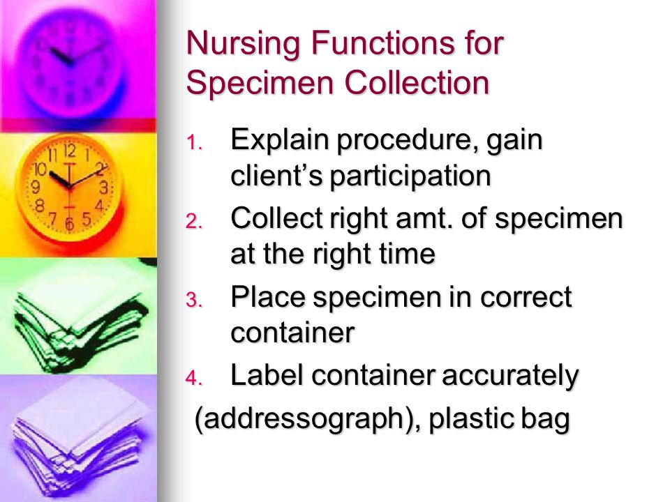 Nursing Functions for Specimen Collection