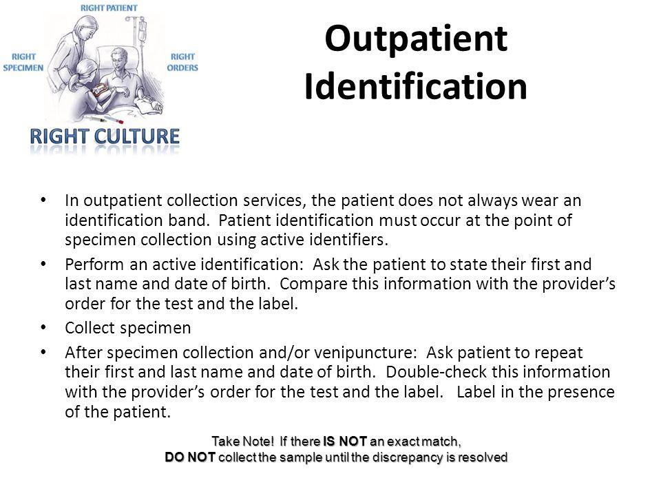 Outpatient Identification