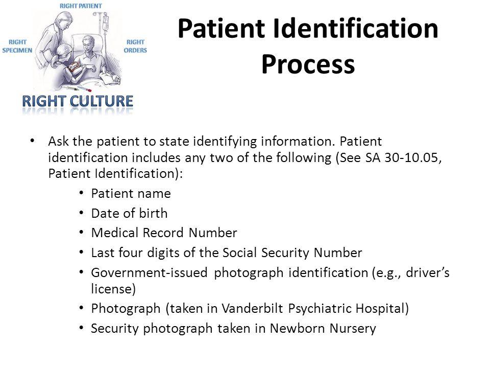 Patient Identification Process