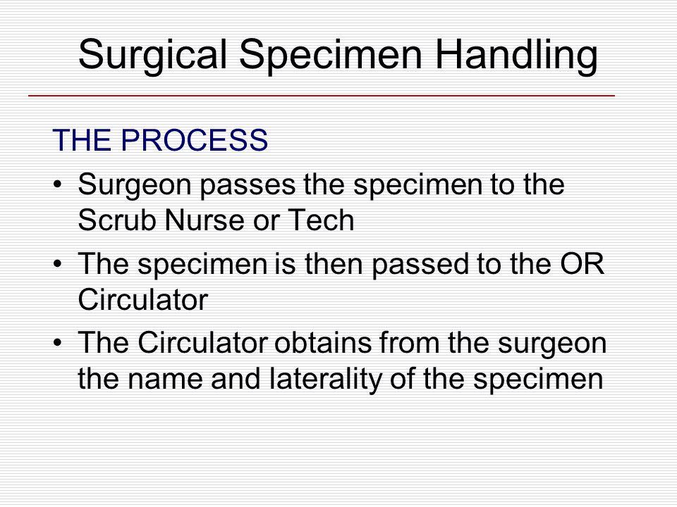 Surgical Specimen Handling