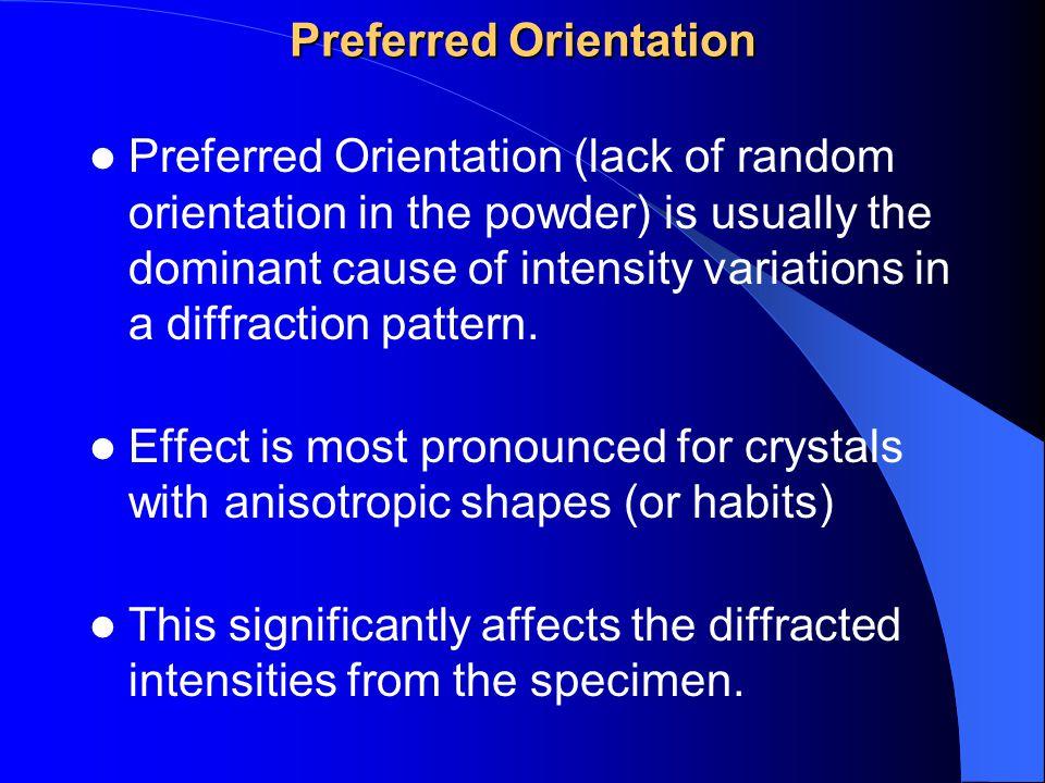 Preferred Orientation