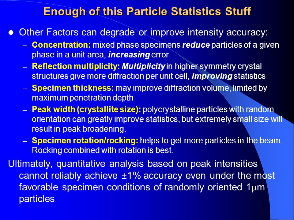 Enough of this Particle Statistics Stuff
