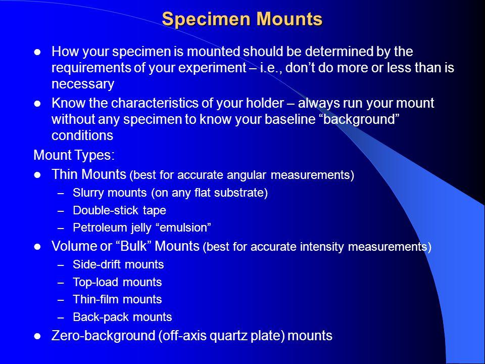 Specimen Mounts