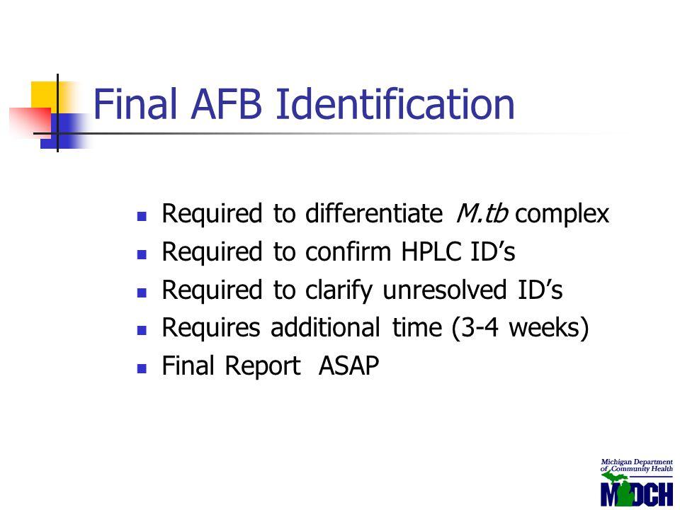 Final AFB Identification
