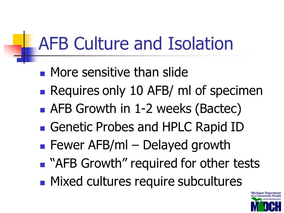 AFB Culture and Isolation