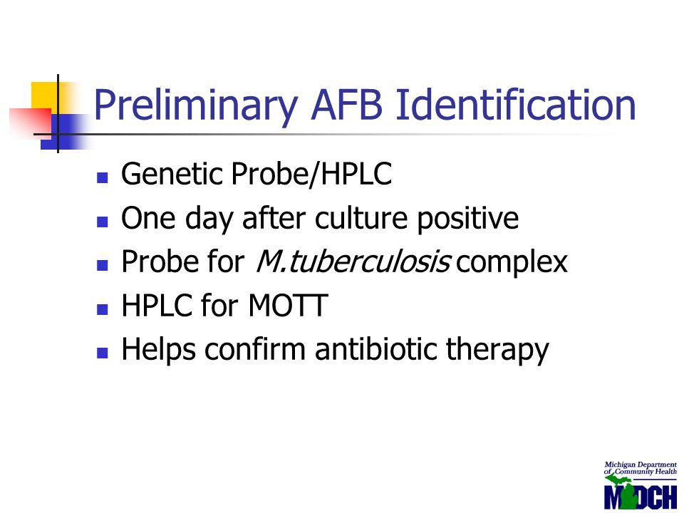 Preliminary AFB Identification