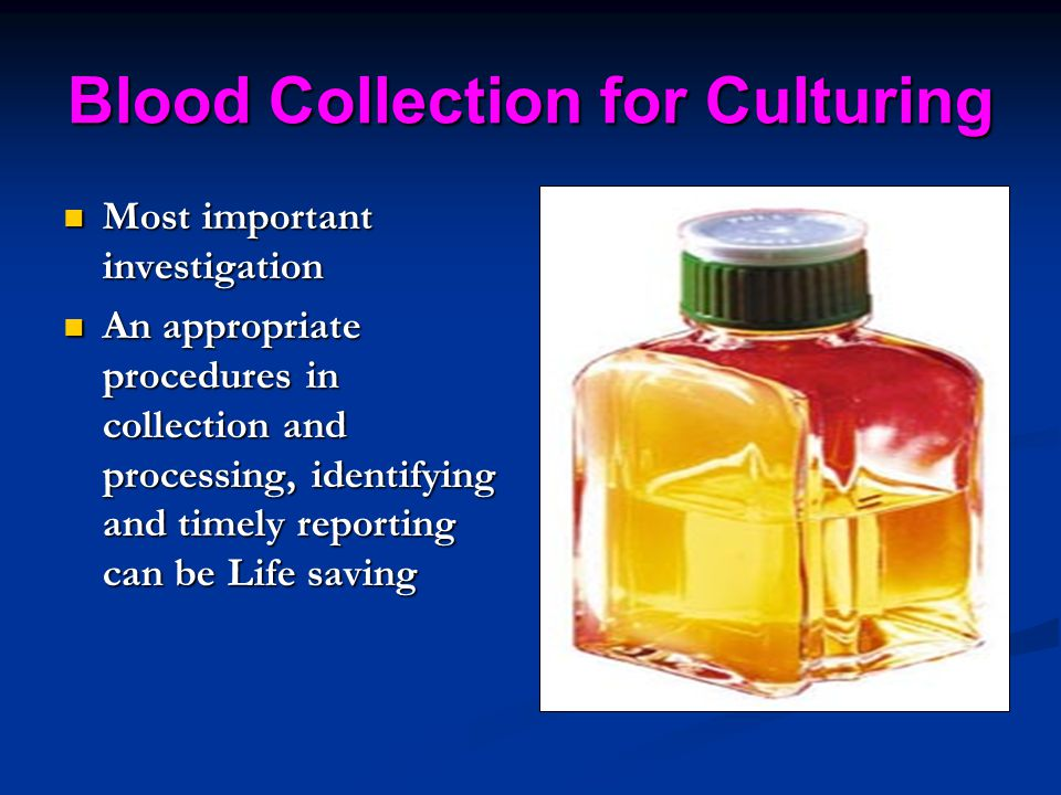 Blood Collection for Culturing
