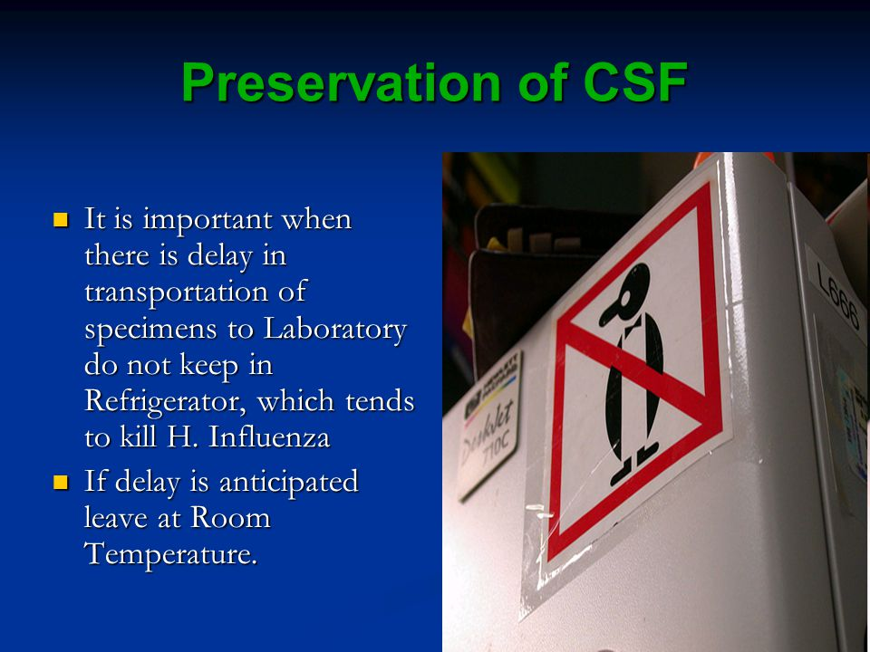 Preservation of CSF