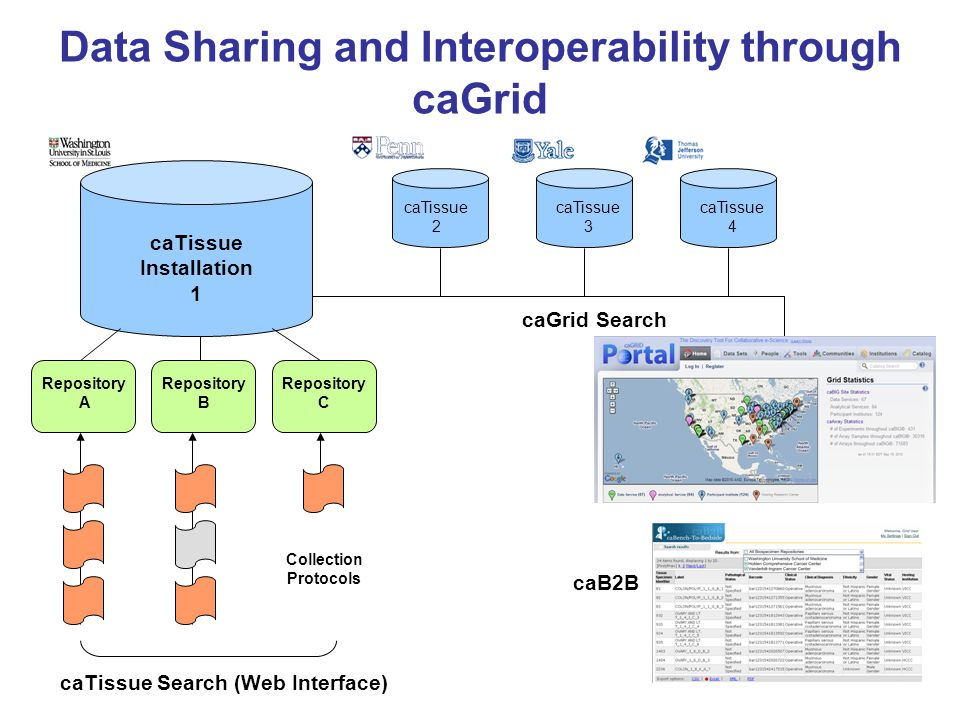 Data Sharing and Interoperability through caGrid