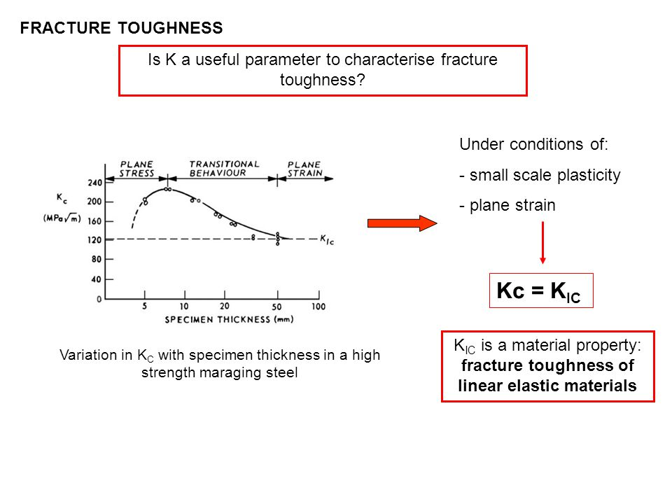 Is K a useful parameter to characterise fracture toughness