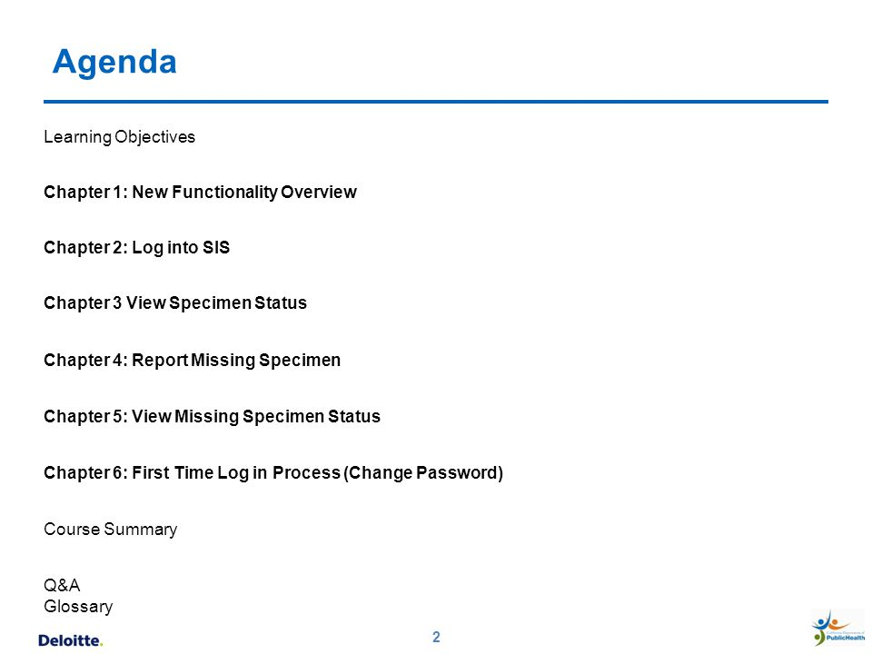 Agenda Learning Objectives Chapter 1: New Functionality Overview