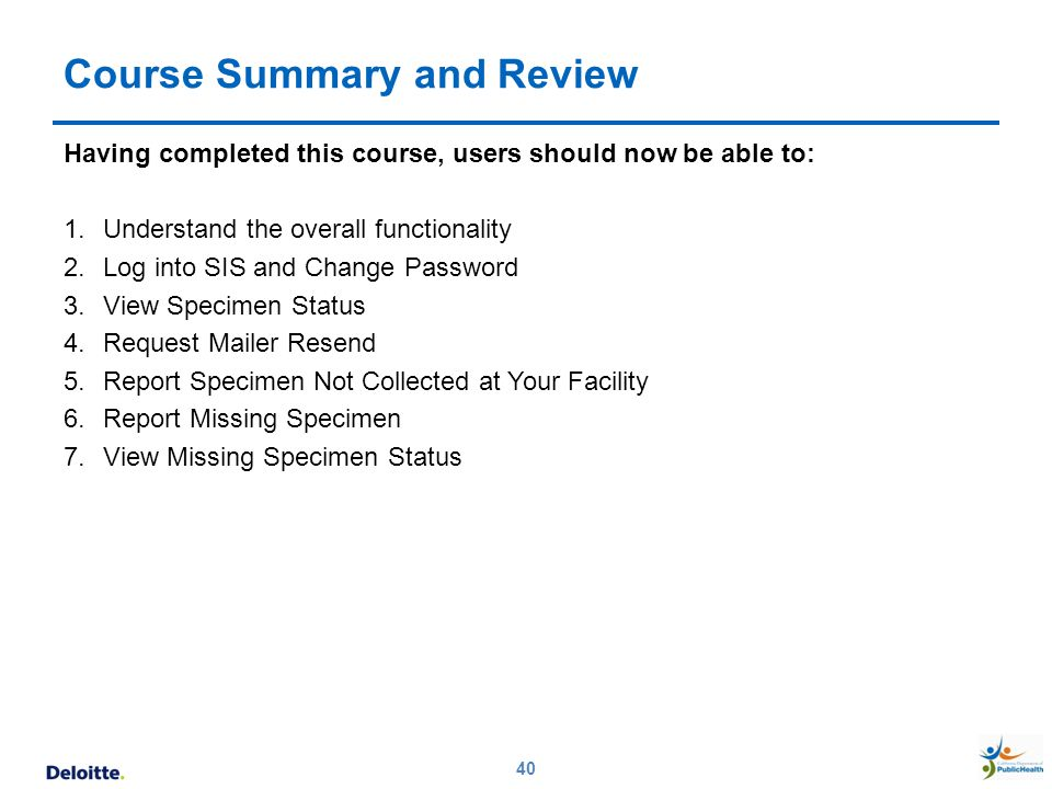 Course Summary and Review