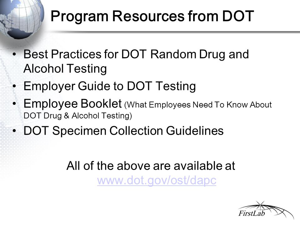 Program Resources from DOT