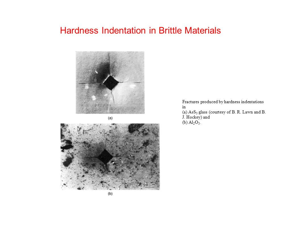 Hardness Indentation in Brittle Materials