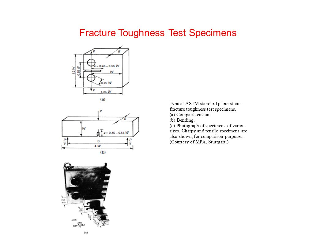 Fracture Toughness Test Specimens