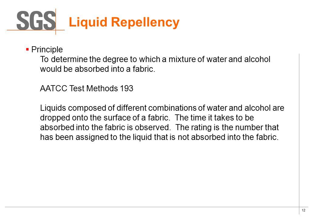 Liquid Repellency Principle