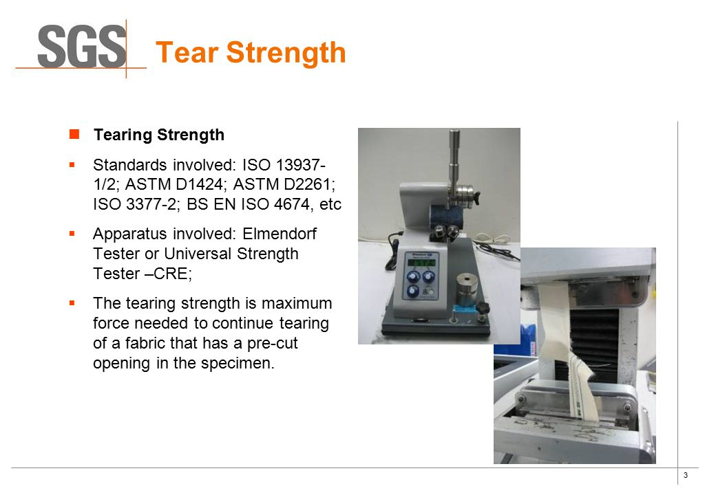 Tear Strength Tearing Strength
