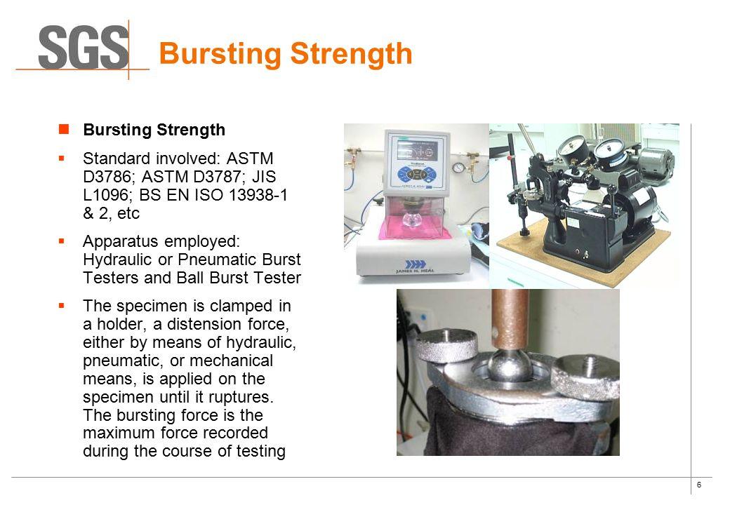 Bursting Strength Bursting Strength